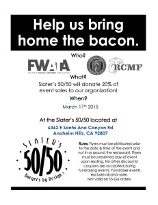 Fundraiser 3-17-2015 at Slater's